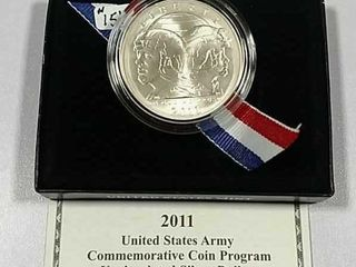 2011 S US  Army Comm  Unc  Silver Dollar