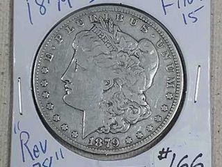 1879 S Rev 78 Morgan Dollar F