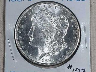 1881 S Morgan Dollar MS 65