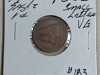 1858 Small letters Flying Eagle Cent VG