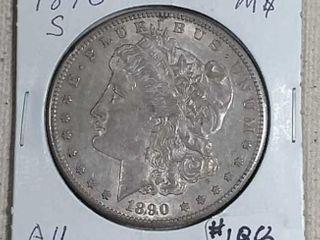 1890 S Morgan Dollar AU