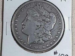 1890 CC Morgan Dollar XF obverse scratch