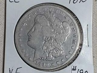 1890 CC Morgan Dollar VF