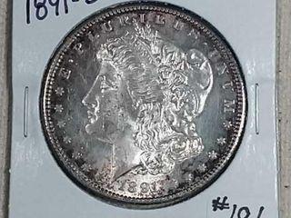 1891 S Morgan Dollar Unc