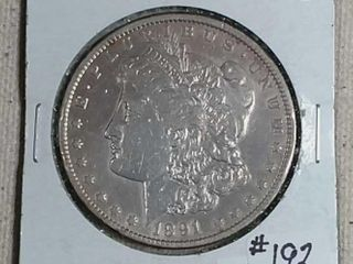 1891 CC Morgan Dollar XF