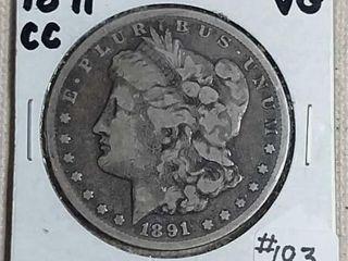 1891 CC Morgan Dollar VG
