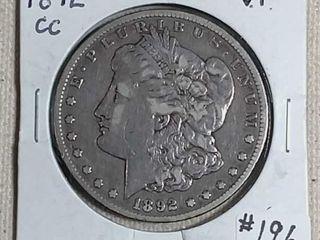 1892 CC Morgan Dollar VF