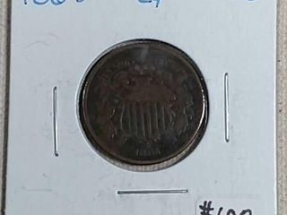 1865 Two Cent VG