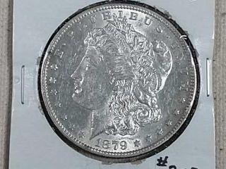 1879 S Morgan Dollar AU