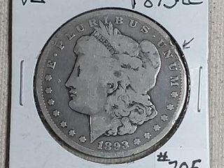 1893 CC Morgan Dollar VG
