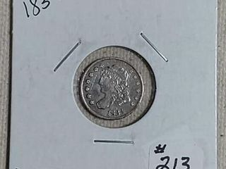 1834 Bust Half Dime XF scratched