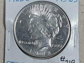 1922 D Peace Dollar MS 63