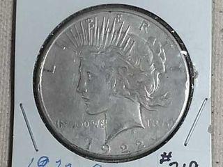 1922 S Peace Dollar XF