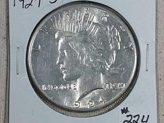 1924 S Peace Dollar AU