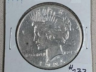 1926 S Peace Dollar XF details cleaned