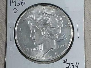 1926 D Peace Dollar AU