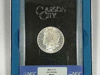 1882 CC GSA Morgan Dollar NGC MS 62