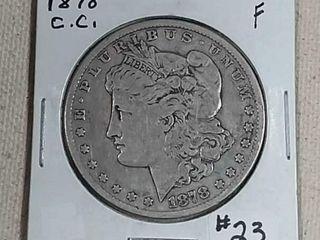1878 CC Morgan Dollar F