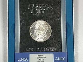 1884 CC GSA Morgan Dollar NGC MS 62