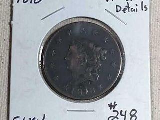 1818 large Cent VF 20 details