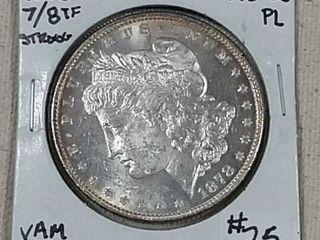 1878 7 8 TF Morgan Dollar MS 63 Pl
