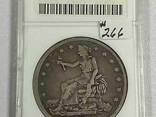 1878 S Trade Dollar ANACS F 12