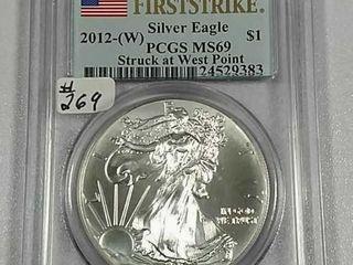 2012 W  Silver Eagle PCGS MS 69