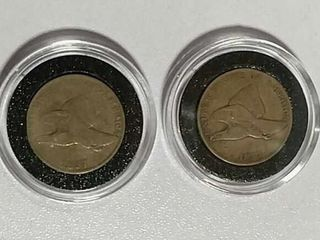 1857   1858 Flying Eagle Cents