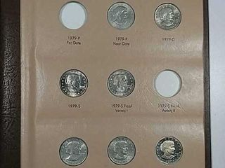 Dansco with 15 Susan B  Anthony Dollars