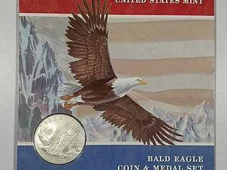 2008 Bald Eagle Coin   Medal set