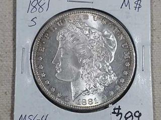 1881 S Morgan Dollar MS