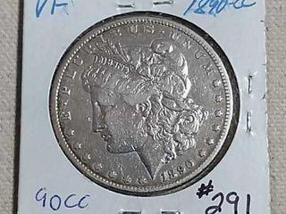 1890 CC Morgan Dollar VF details cleaned