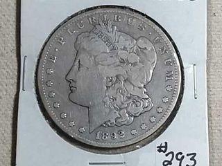 1892 CC Morgan Dollar F