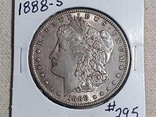 1888 S Morgan Dollar AU