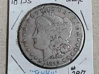 1895 S Morgan Dollar Damaged