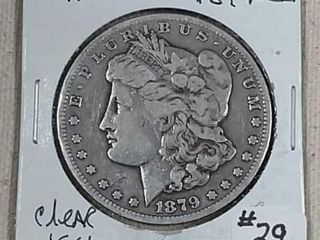 1879 CC Morgan Dollar F VF