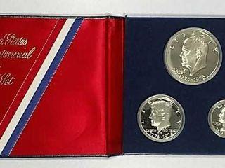 1976 3 pc  Bicentennial Silver Proof set