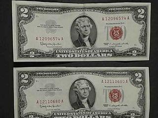 2 Series 1963  2 lT Red Seals F Folds