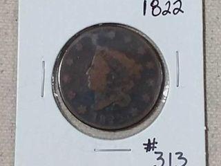 1822 large Cent G