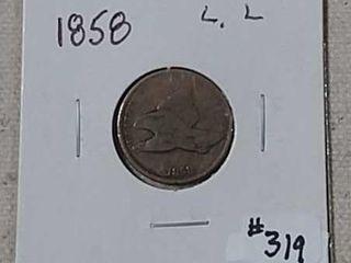 1858 large letters Flying Eagle Cent VG