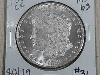 1880 CC Morgan Dollar MS 63