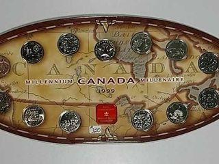 1999 Canadian Millenniiun Quarter set