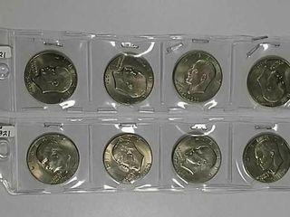 8 1976 D Bicentennial Eisebhower Dollars