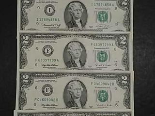 Group of 5  2 Federal Reserve Notes