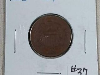 1865 Two Cents VG