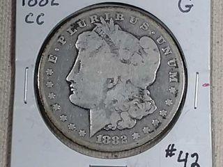 1882 CC Morgan Dollar G
