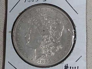 1883 S Morgan Dollar AU