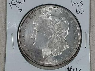1885 S Morgan Dollar MS