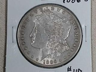 1886 S Morgan Dollar XF