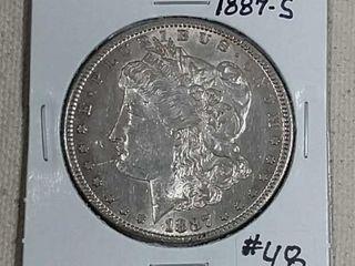 1887 S Morgan Dollar AU
